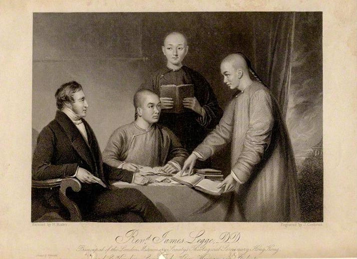 Missionary James Legge and his students