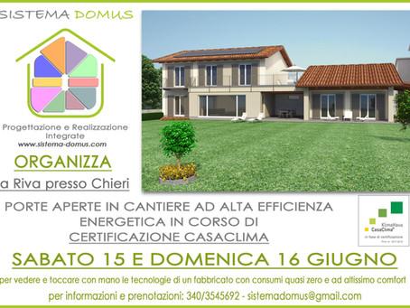 Porte aperte in nuovo cantiere CasaClima Gold a Riva presso Chieri