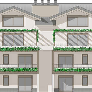Nuovo fabbricato residenziale multifamigliare a Riva presso Chieri.