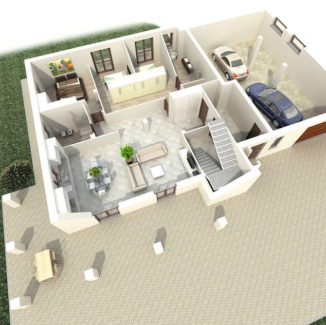 Frazionamneto di fabbricato residenziale con restyling interno.