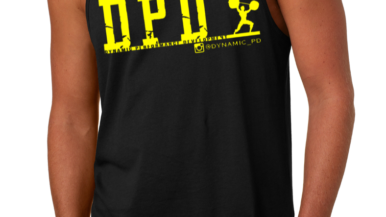 Black/Yellow logo tank top