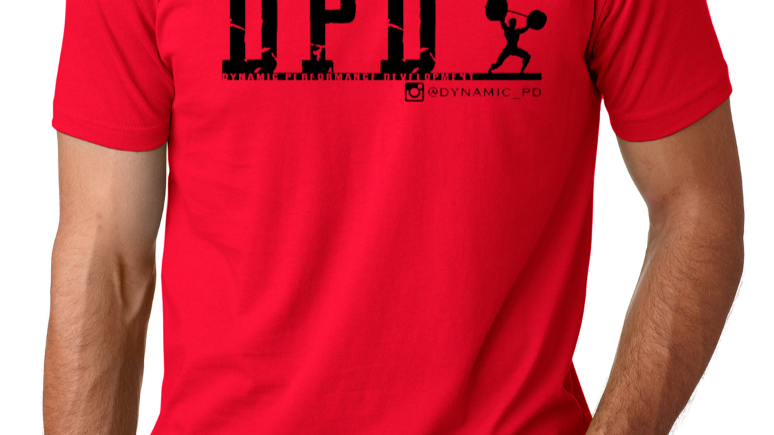 Red/Black logo tee