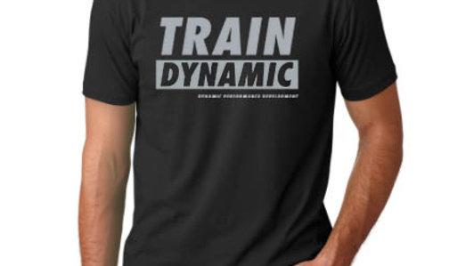 """Black/grey """"Train Dynamic"""" TEE"""