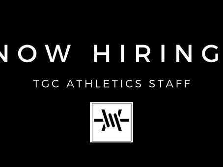 TGC Athletics is Now Hiring!