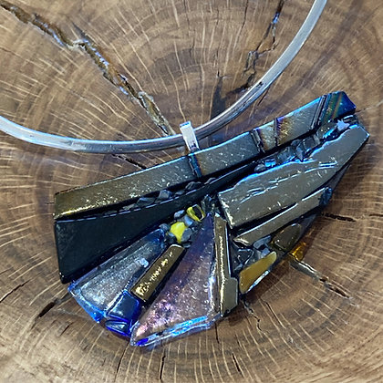 Wearable Art Fused Glass Necklace
