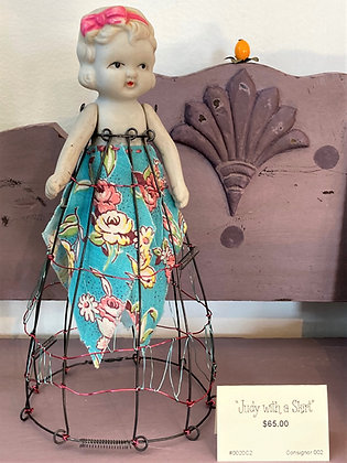 Judy with a Skirt Assemblage