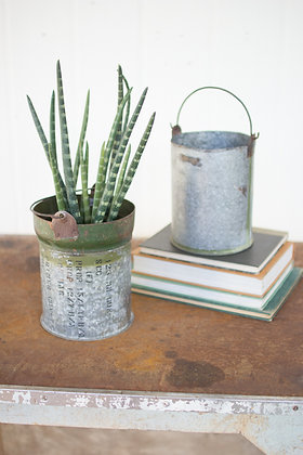Reclaimed Ammunition K Canister Bucket with Handle