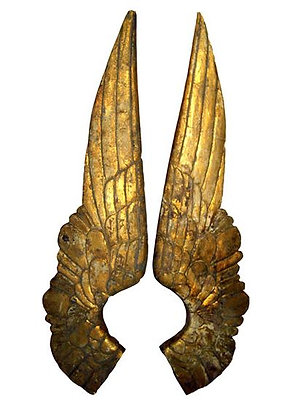 Pair of Small Wood Angel Wings