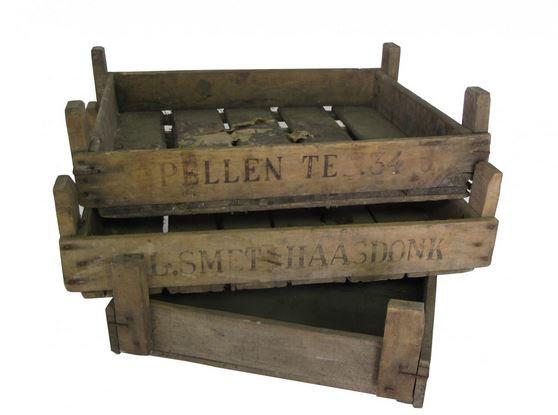 Vintage produce crates