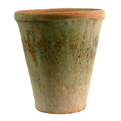 Rustic Terra Cotta Rose Pot (Lg, Antique Red)