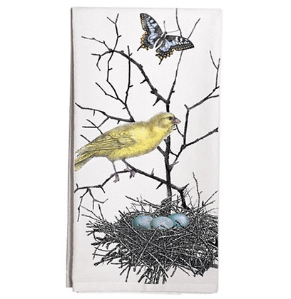 Yellow Bird with Nest Flour Sack Towel