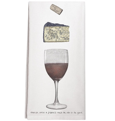 Wine & Cheese Flour Sack Towel