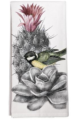Cactus and Bird Flour Sack  Towel