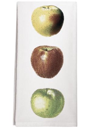 Three Apple Flour Sack  Towel