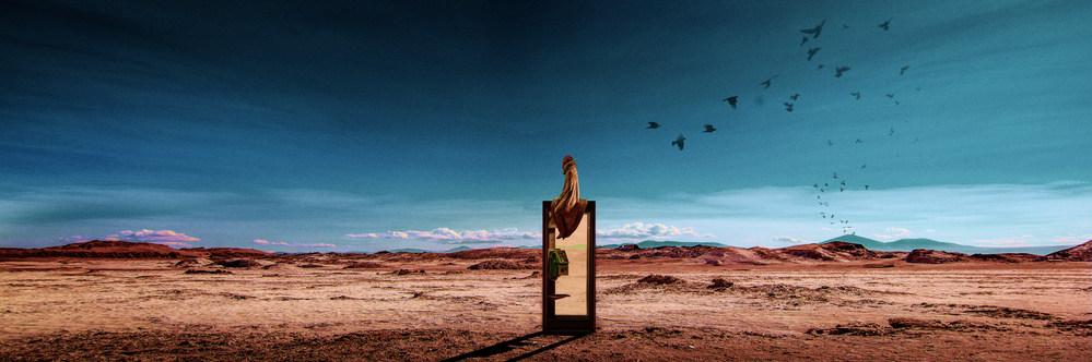 long take in the desert, 2019,digital collage