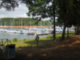 Boat slips on Lake Hartwell at Big Water Marina