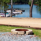 Fire pits at Big Water Marina campground