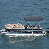 Friends Riding in Bentley Pontoon on Lake Hartwell