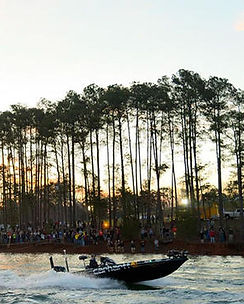 Boat Participating in Bass Nation on Lake Hartwell
