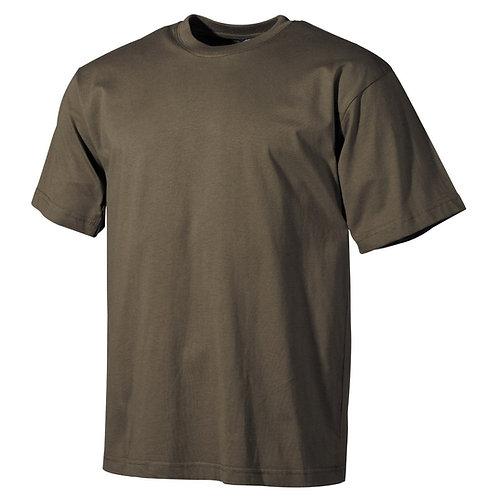 US T-Shirt, halbarm, oliv, 170 g/m²