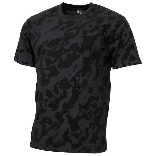 "US T-Shirt, ""Streetstyle"", night-camo, 140-145 g/m²"
