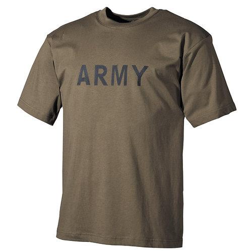 """T-Shirt, bedruckt, """"Army"""", oliv"""