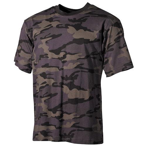 US T-Shirt, halbarm, combat- camo, 170 g/m²