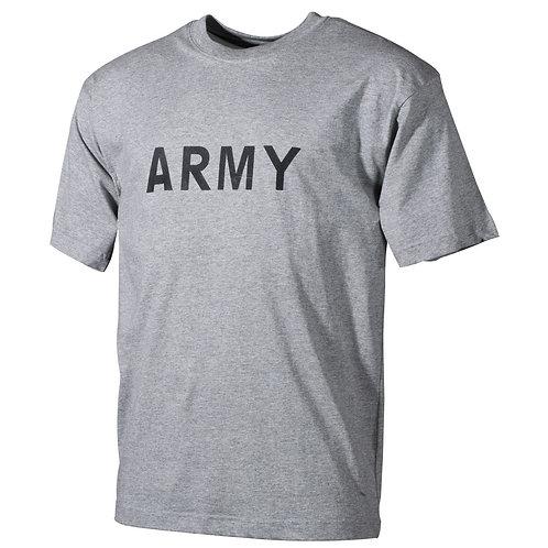 """T-Shirt, bedruckt, """"Army"""", grau"""
