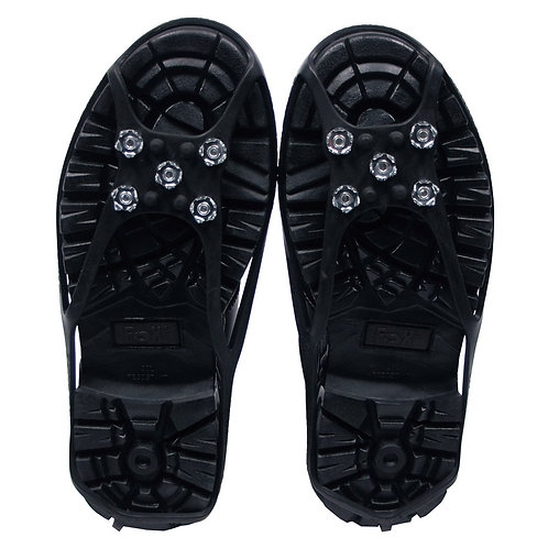 Schuhspikes, schwarz, mit 5 Noppen