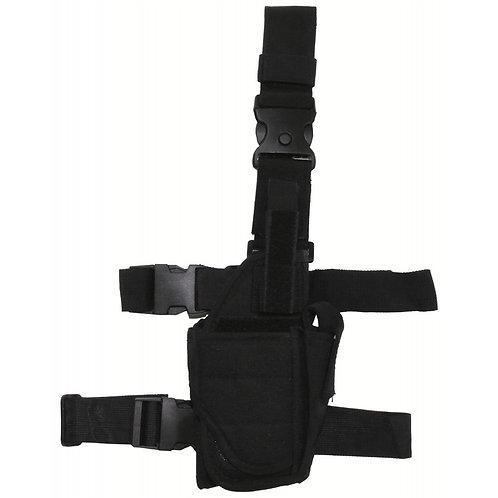 Pistolenbeinholster, schwarz, verstellbar, rechts