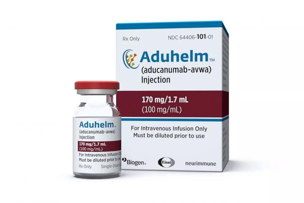 Aduhelm single-dose injection.