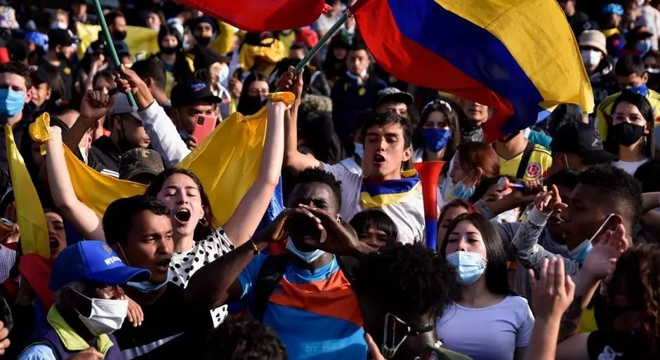 Colombians protesting against the Government.