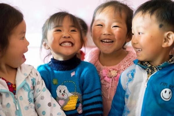 Children at UNICEF (United Nations Children's Fund) camps.