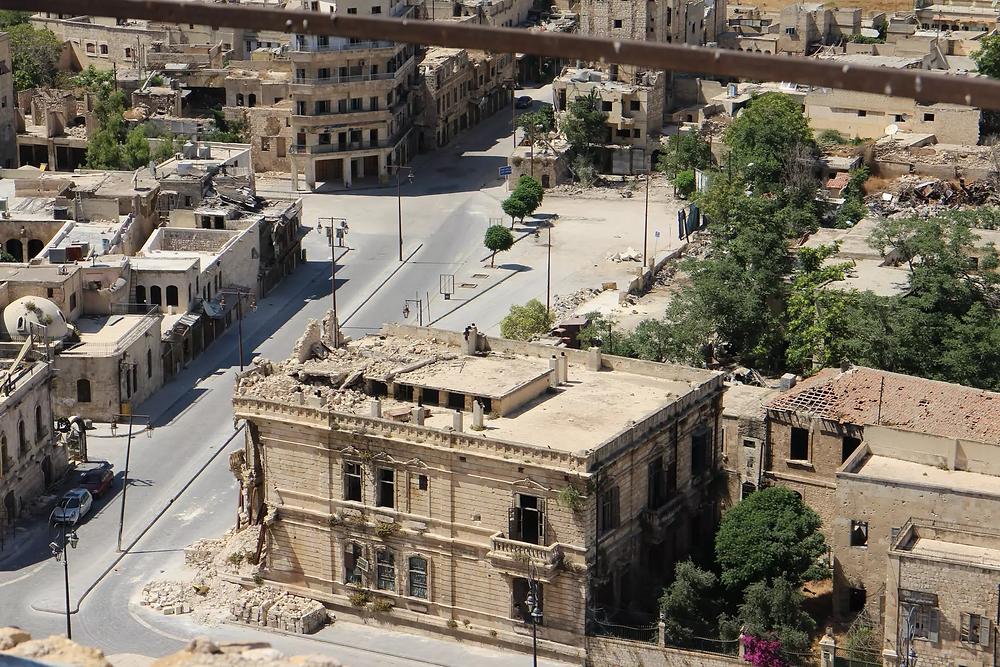 A building in Aleppo, Syria.