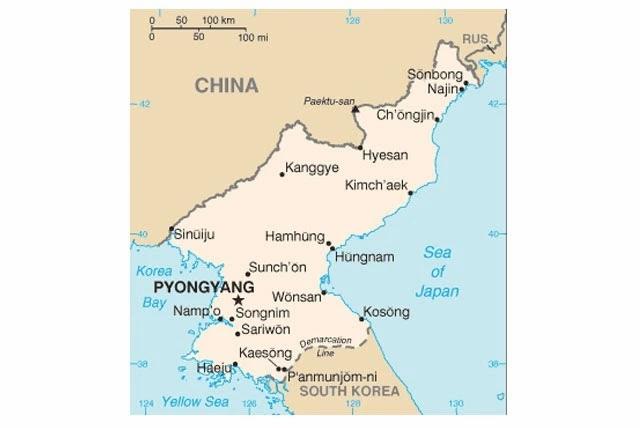 The North Korean Map.