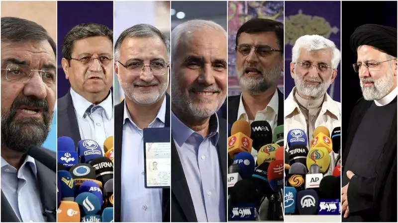 The 7 Presidential nominees for the 2021 Elections in Iran.