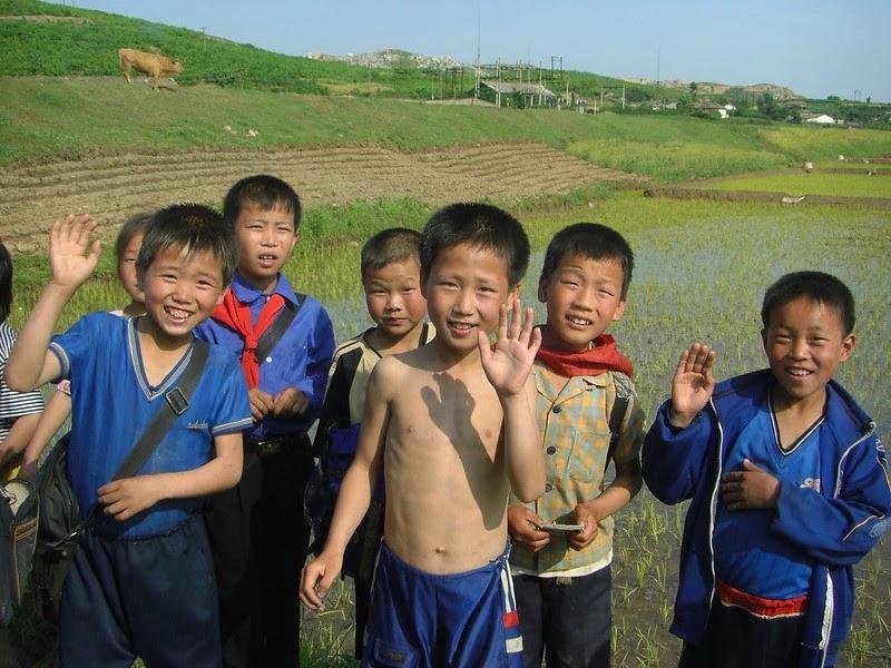 Children in North Hwanghae province.