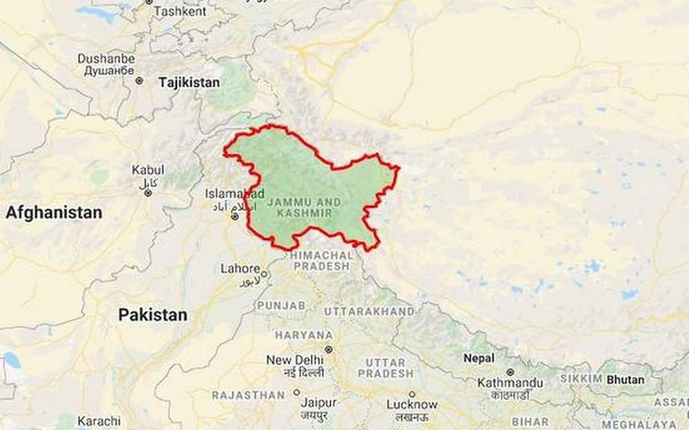 Jammu and Kashmir entire location.