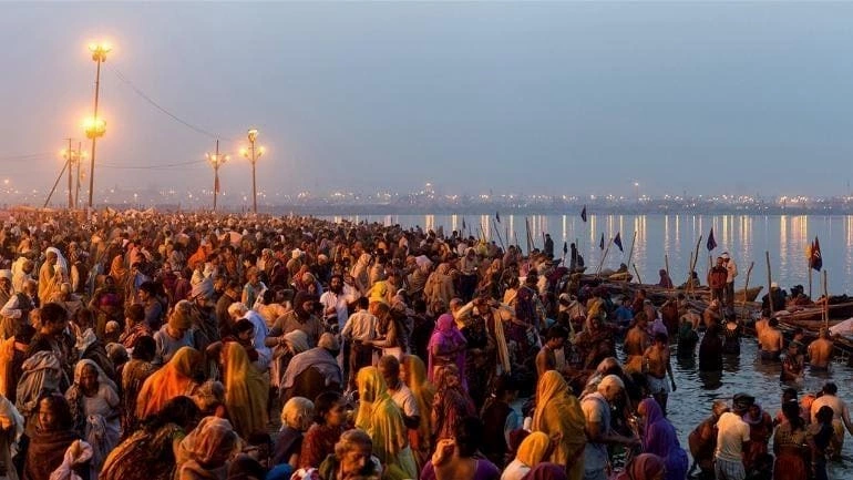 A picture from the Kumbh Mela religious gathering in Haridwar which was attended by reportedly 3.5 million pilgrims this April.
