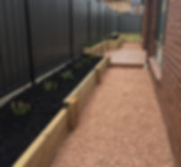 Retaining walls, decking, landscaping, Mickleham