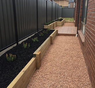 Retaining walls, decking, landscaping, Mickleham