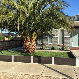 Concrete Retaining Wall, Synthetic grass, Landscaping, Taylors Lakes