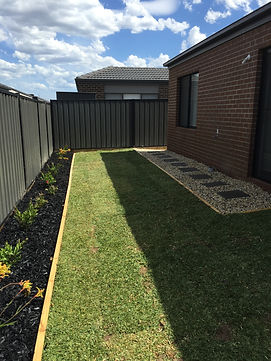 Landscaping job Mernda, Sir Walter Buffalo