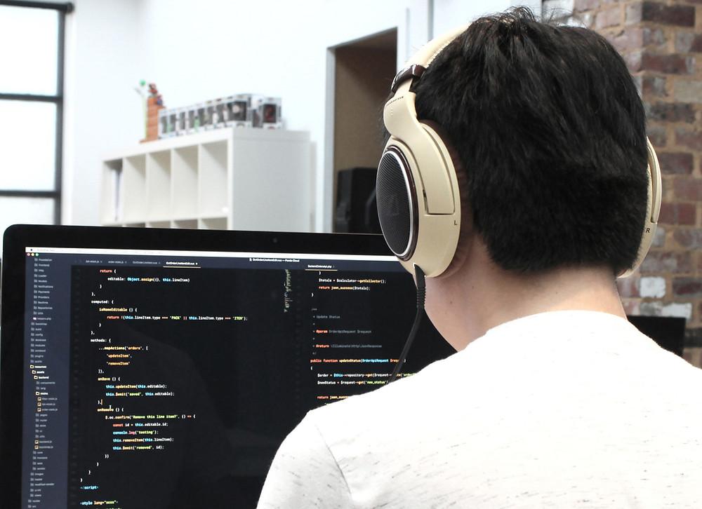 Developer Coding On His Computer