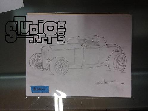 DEUCE original pencil art