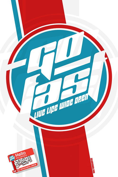 GO FAST/RED-WHITE & BLUE banner