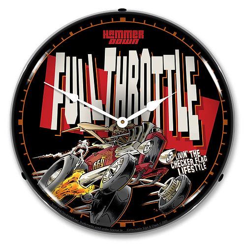 FULL-THROTTLE Clock