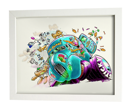 Mr. YUMMI technicolor  limited edition print