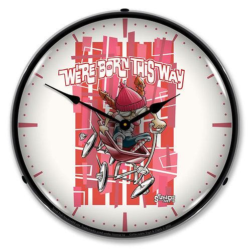Girl Born This Way Clock