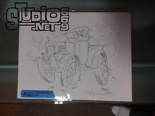 TINKER original pencil art